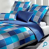 posteljina JOOP WOVEN CUBES AZUR 140x200