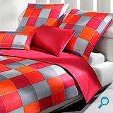 posteljina JOOP WOVEN CUBES CASSIS 140x200