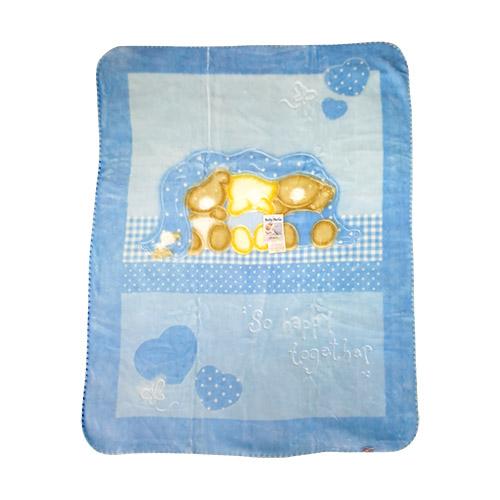 BELPLA BABY PERLA GOLD 543 110x140 PLAVA